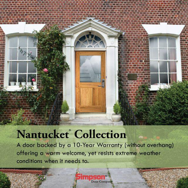 Simpson Door, Nantucket Collection - 10 Year warranty - no overhang