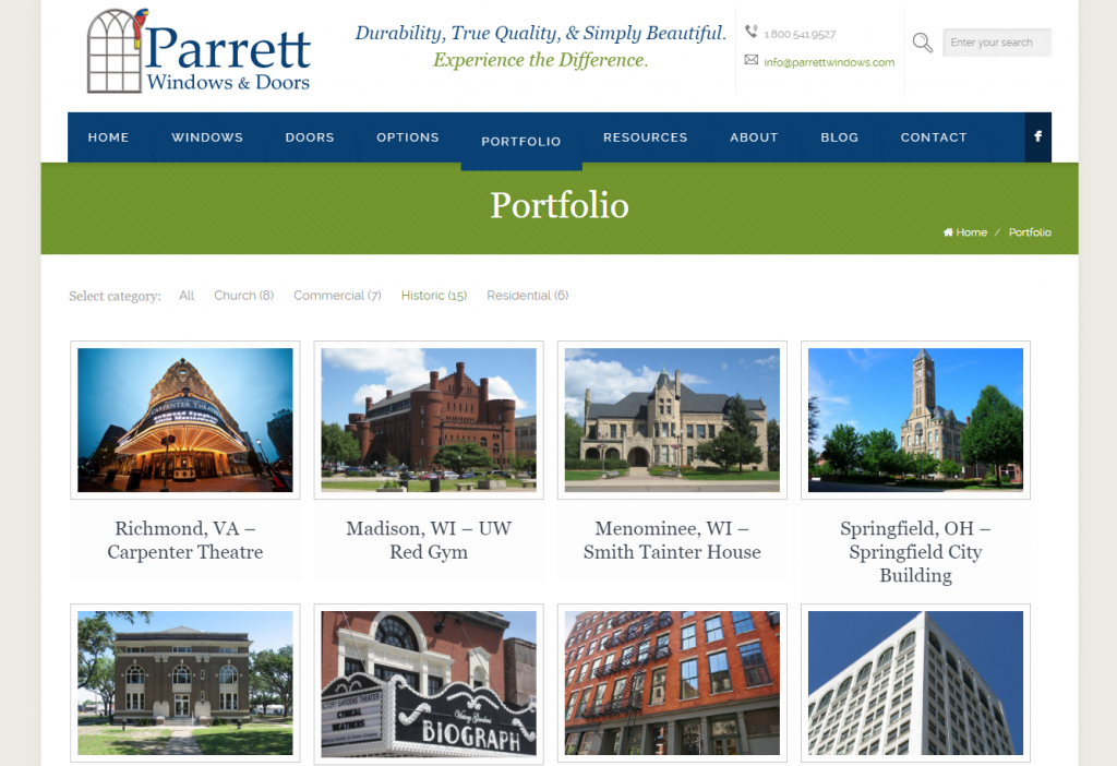 Parrett Windows & Doors - Portfolio